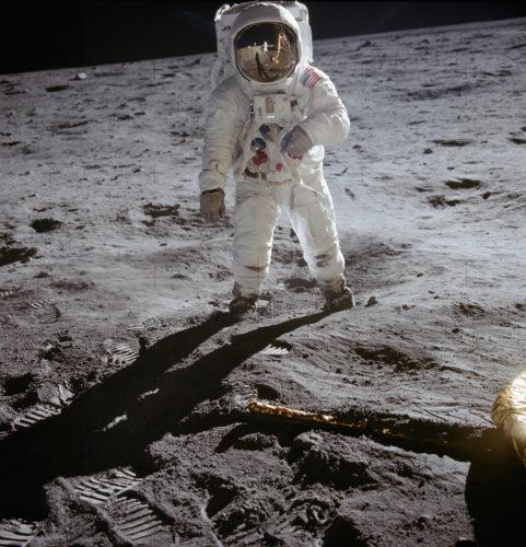 Buzz Aldrin sulla Luna, 20 luglio 1969. Foto: © NASA.