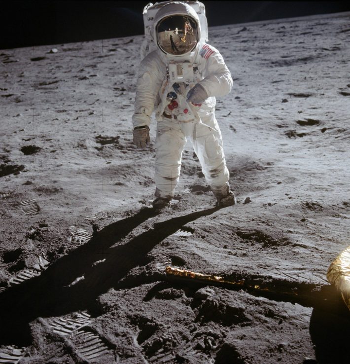Buzz Aldrin on the moon, July 20, 1969. Photo: © NASA.